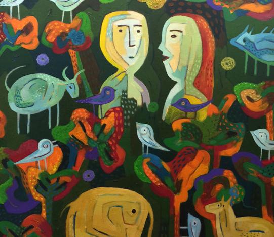 Faizal, Oil on Canvas, 100cm x 100cm