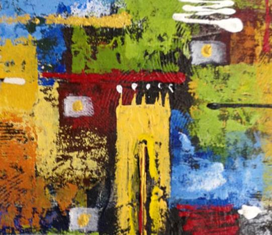 I Dewa Putu Rindy, Oil on canvas, 50cm x 50cm