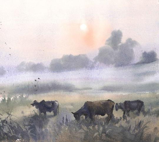 Namchai Saensupha, Watercolour on paper, 30cm x 40cm