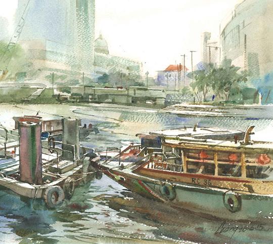 Leong Chye Chye, Watercolour on paper, 26cm xx 35.5cm