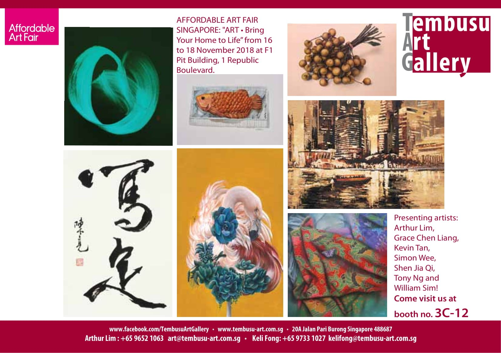 """AFFORDABLE ART FAIR SINGAPORE: """"ART • Bring Your Home to Life"""""""