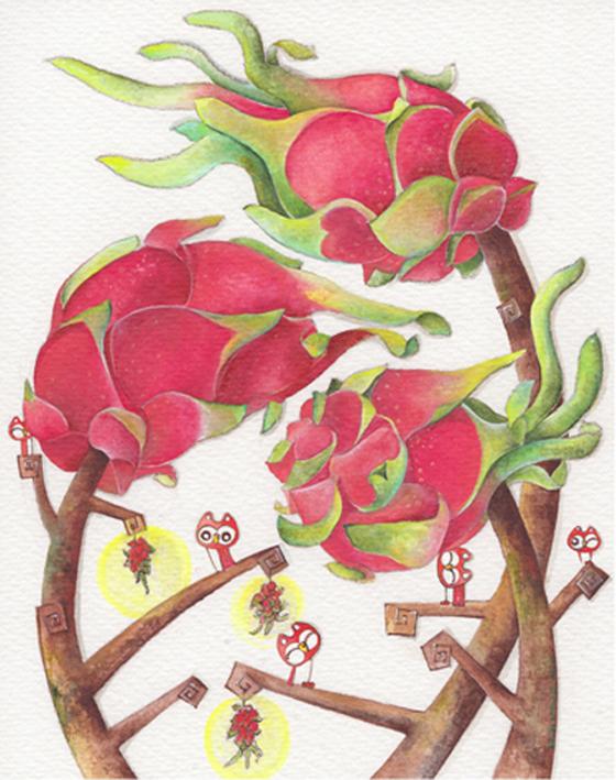 Beth Cheong, Acrylic cum watercolour on paper, 23.8cm x 18cm